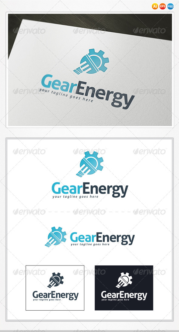 Gear Energy Logo - Symbols Logo Templates
