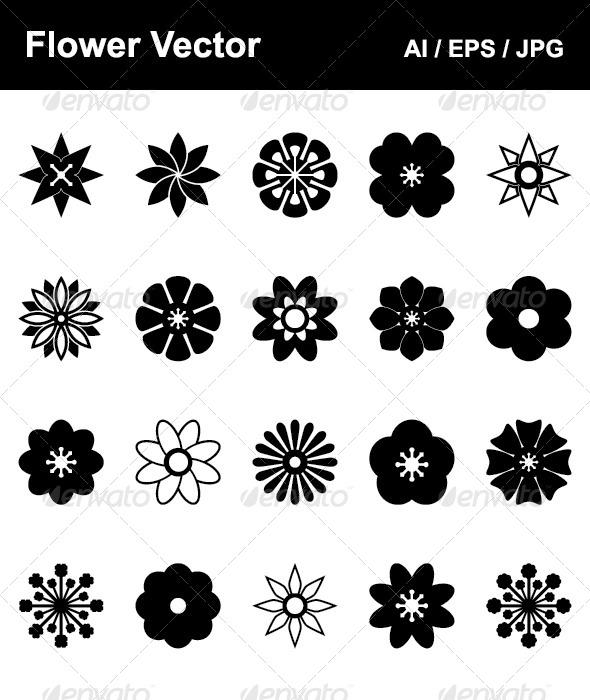Flower Vector - Decorative Symbols Decorative