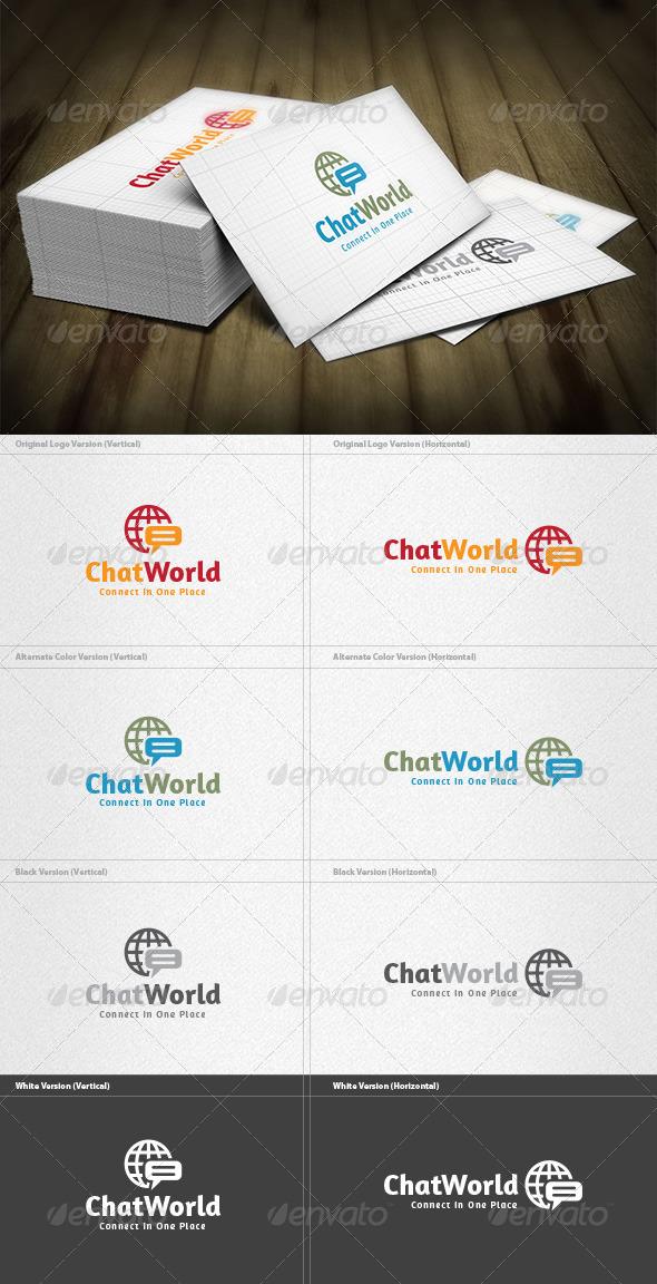 Chat World Logo - Symbols Logo Templates