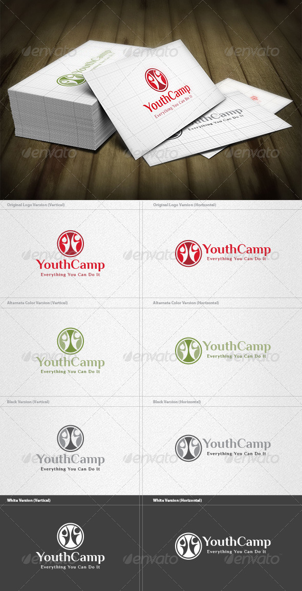 Youth Camp Logo - Humans Logo Templates