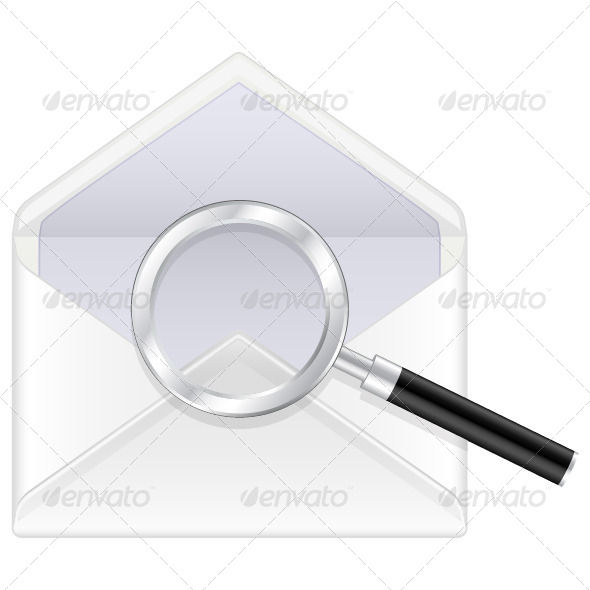 Envelope and Magnifier - Objects Vectors