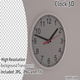 Clock 3D Render - GraphicRiver Item for Sale