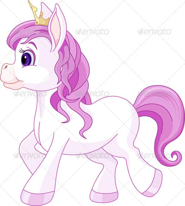 Horse Princess Walking - Animals Characters