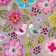 Seamless Texture with Flowers and Birds. - GraphicRiver Item for Sale