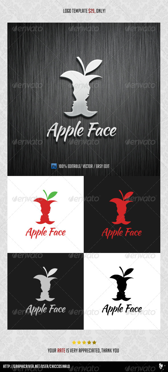 Apple Face Logo Template - Abstract Logo Templates