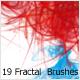 19 Fractal  Brushes - GraphicRiver Item for Sale