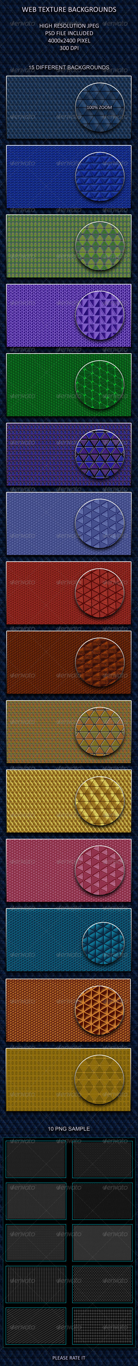 10 Web Texture Backgrounds - Patterns Backgrounds