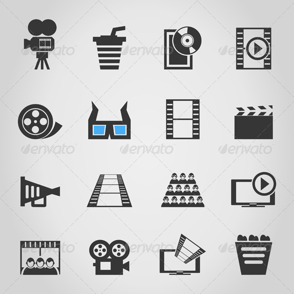 Cinema Icons 4 - Miscellaneous Vectors