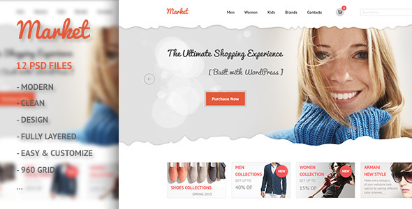 Market – eCommerce, Retail, Shopping PSD