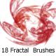 18 Fractal  Brushes - GraphicRiver Item for Sale