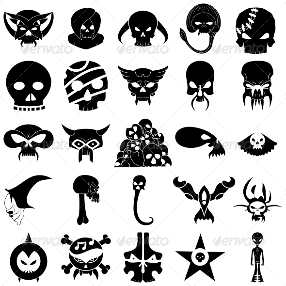 Skull Tattoo Designs Vector Pack - Tattoos Vectors