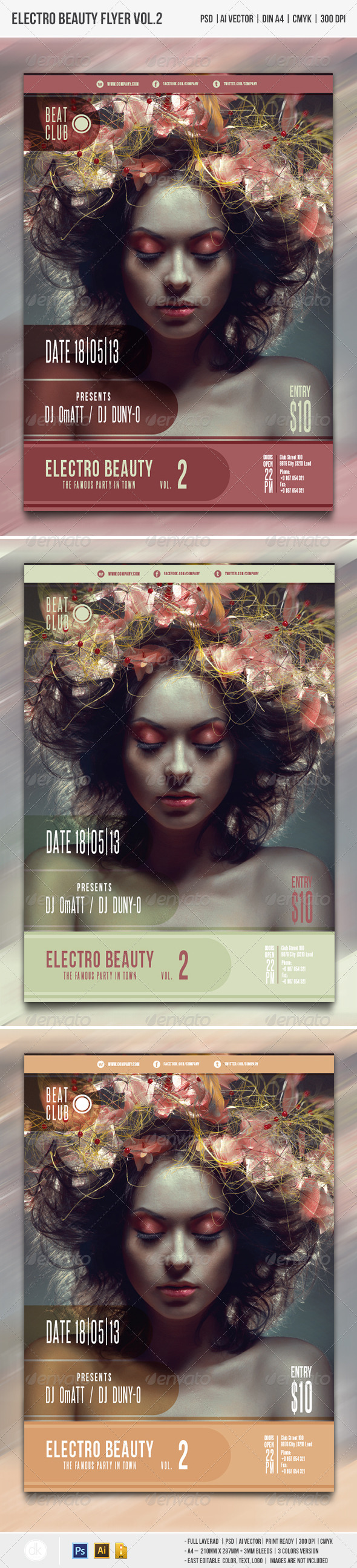Electro Beauty Flyer vol.2 - Clubs & Parties Events