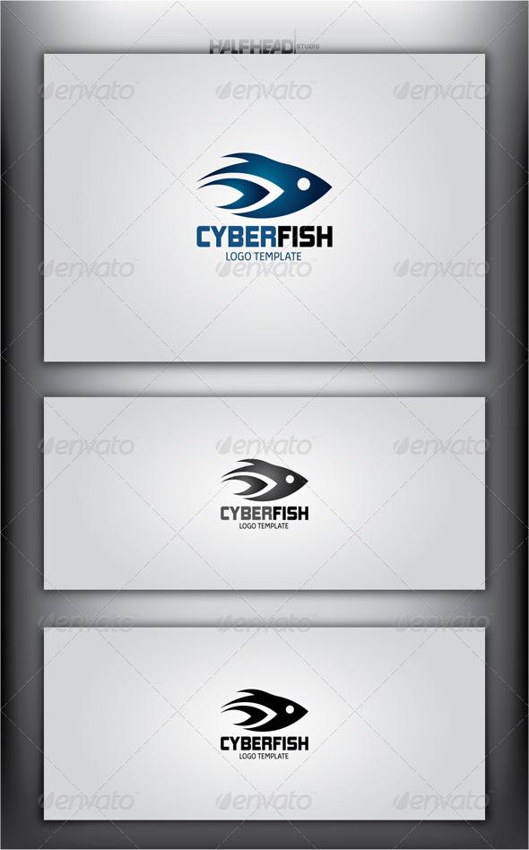 CyberFish Logo Template - Animals Logo Templates