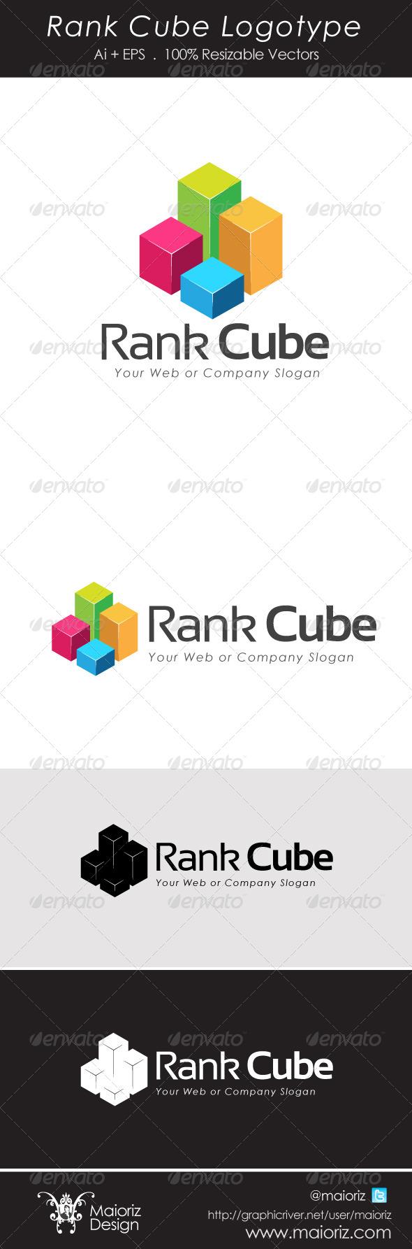 Rank Cube Logotype - 3d Abstract