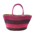 Striped purple mauve basket tote - PhotoDune Item for Sale
