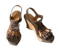 Wedge fringed leather sandals - PhotoDune Item for Sale
