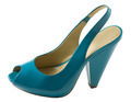 Turquoise patent leather peep toe - PhotoDune Item for Sale