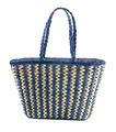 Blue striped basket tote - PhotoDune Item for Sale