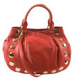 Red leather studded purse - PhotoDune Item for Sale