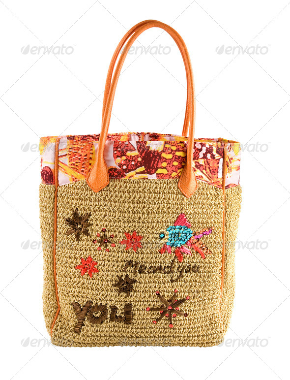 Marine details basket tote - Stock Photo - Images