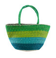 Striped green and blue basket tote - PhotoDune Item for Sale