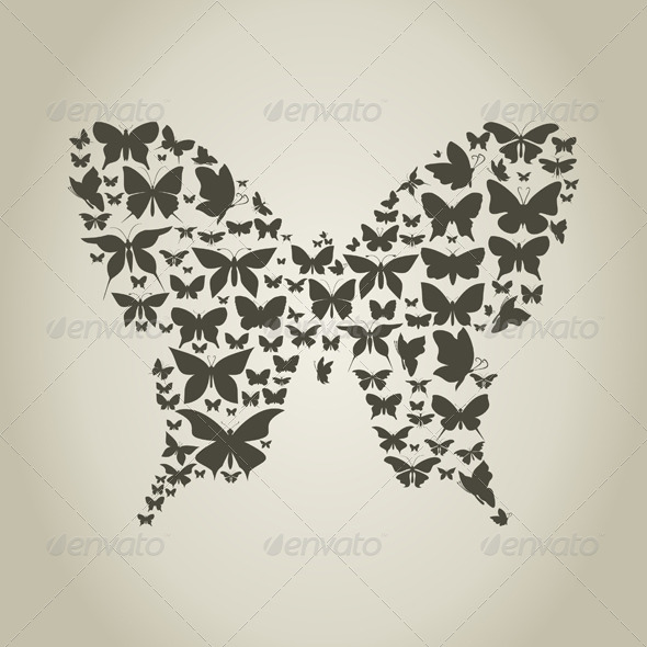 Silhouette the Butterfly - Animals Characters