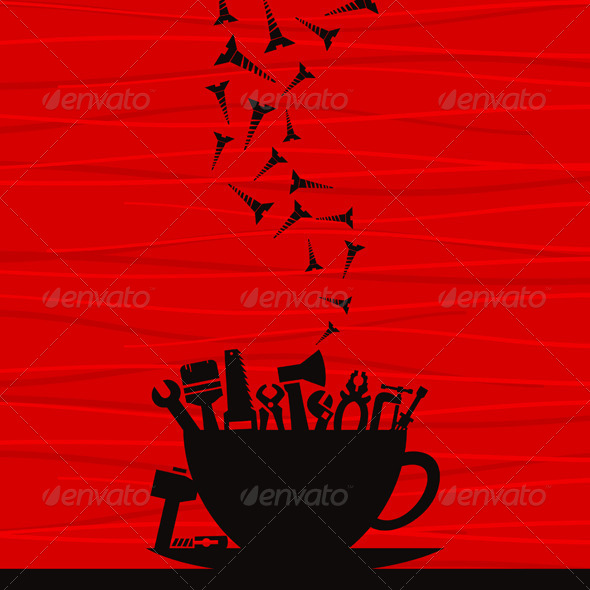Took Cup - Abstract Conceptual