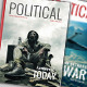Political Magazine Template InDesign 50 Pages 2 Covers Infographics - GraphicRiver Item for Sale