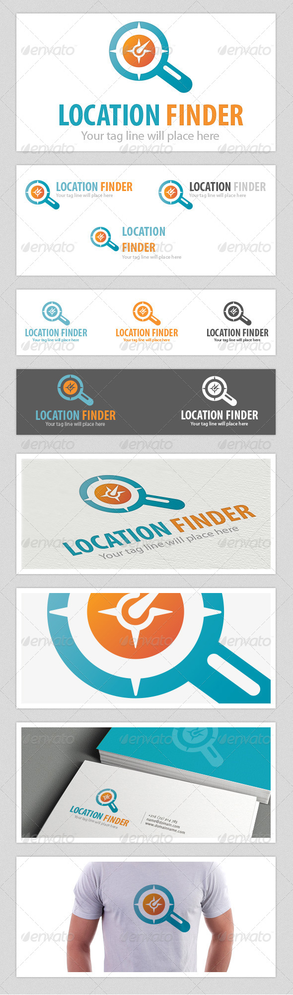 Location Finder Logo - Vector Abstract