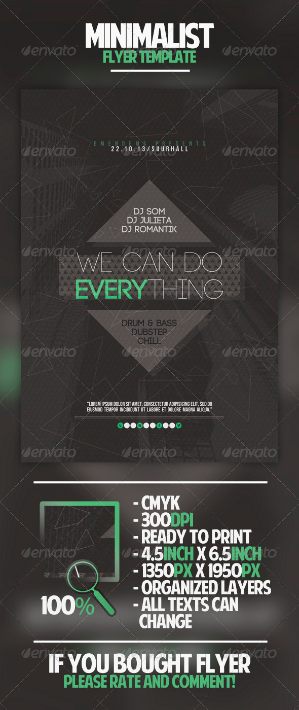 Minimalist Flyer Template - Clubs & Parties Events