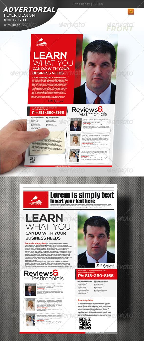 Advertorial Flyer Design  - Flyers Print Templates