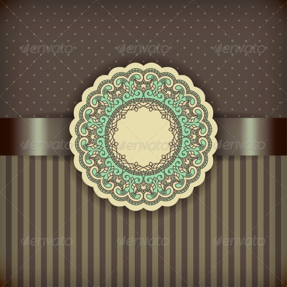 Retro Brown Background - Patterns Decorative