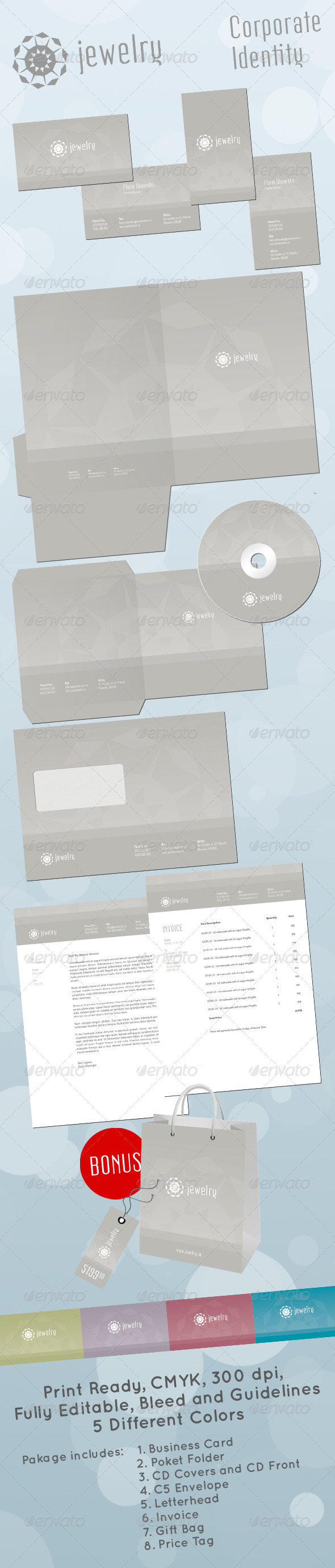 Jewelry Store Corporate Identity - Stationery Print Templates