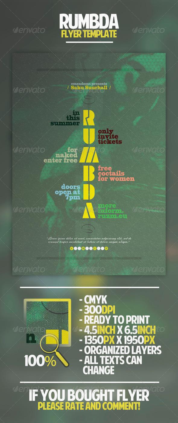 Rumbda Flyer Template - Concerts Events