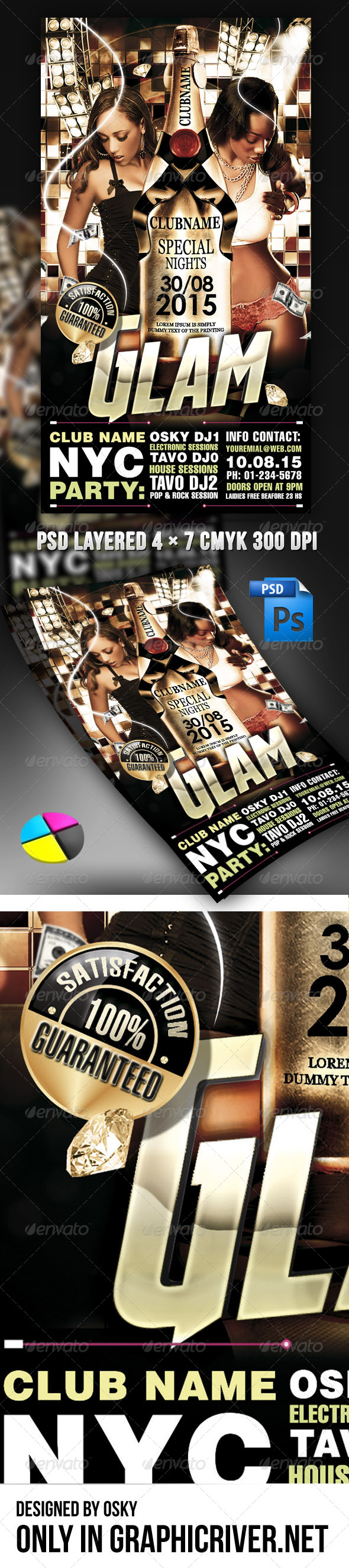 Glam Flyer - Clubs & Parties Events