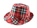 Red tartan fedora hat - PhotoDune Item for Sale