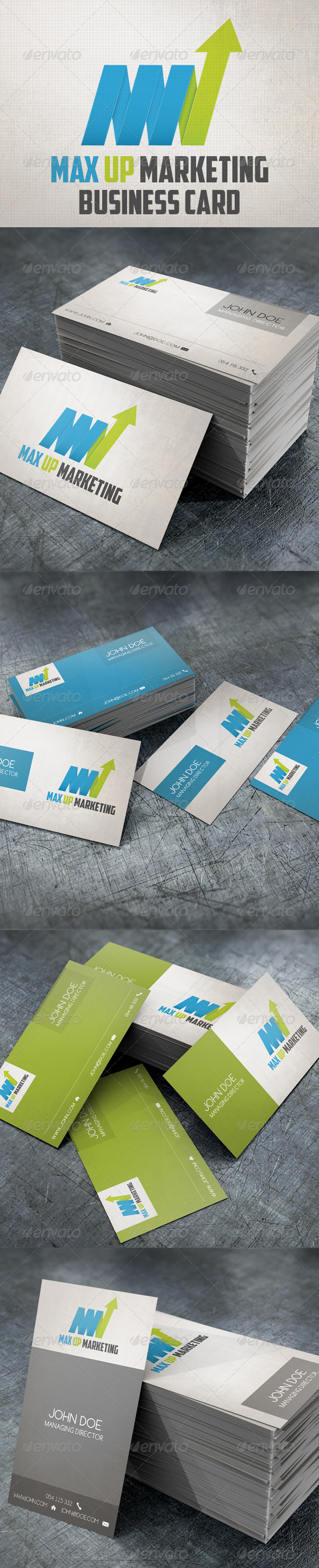 Max Up Business Card & Logo - Corporate Business Cards