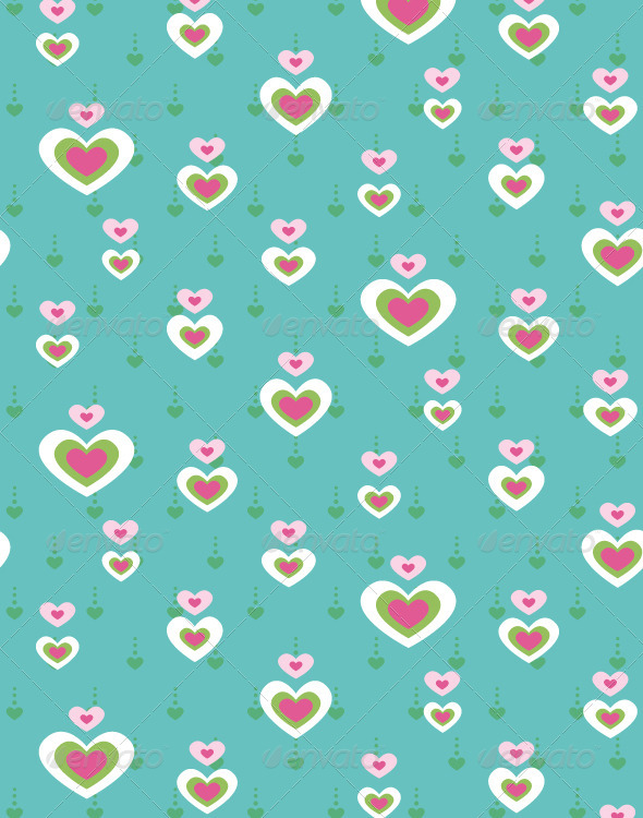 Heart Seamless Pattern - Backgrounds Decorative