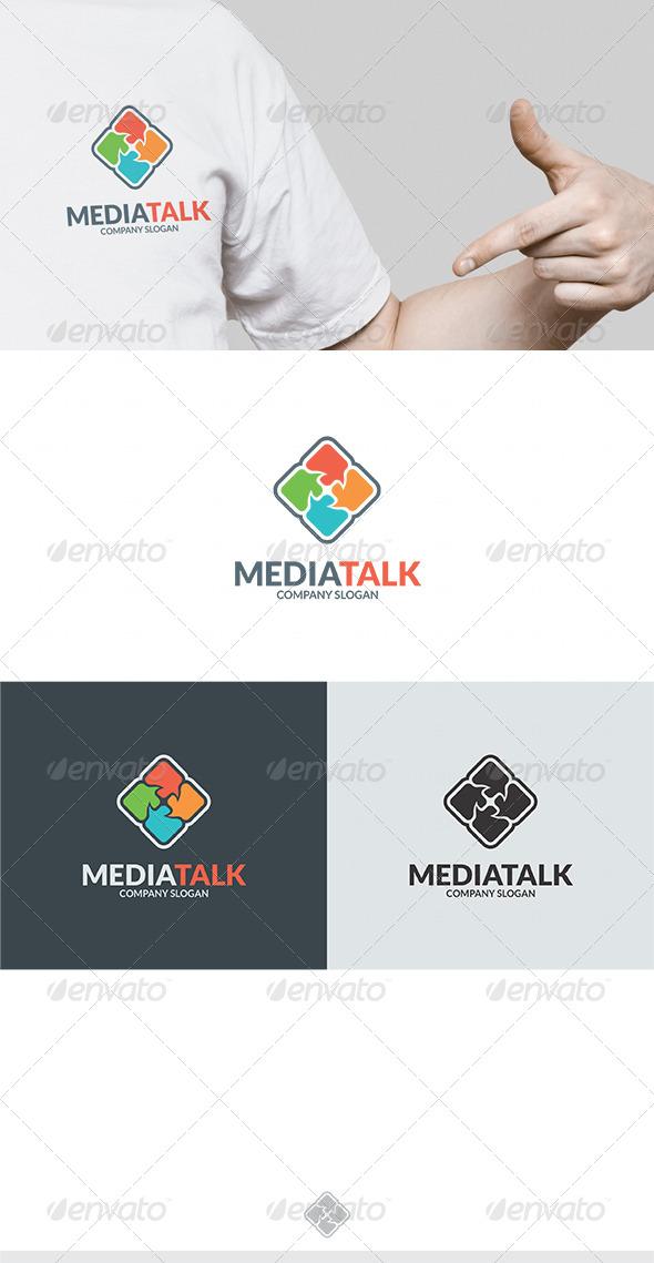 Media Talk Logo - Vector Abstract