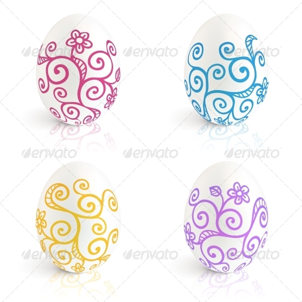 Ornate Easter Eggs Vector Set - Miscellaneous Seasons/Holidays