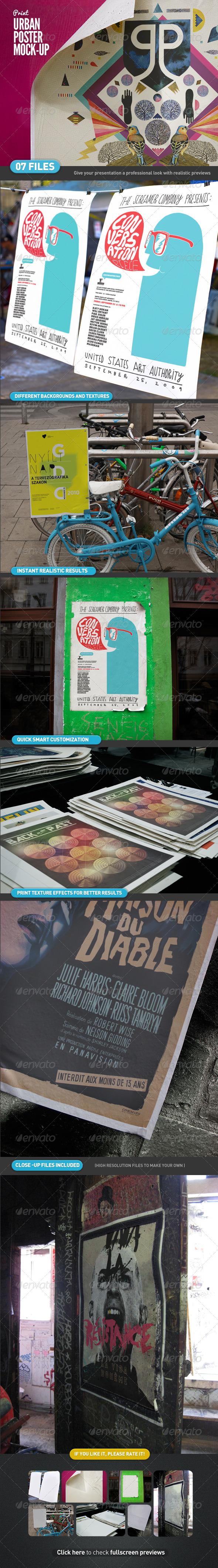 Urban Poster Mock-Up - Posters Print