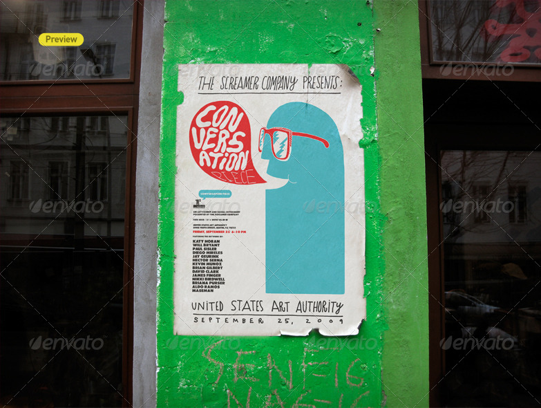 Urban Poster Mock Up By Itscroma Graphicriver