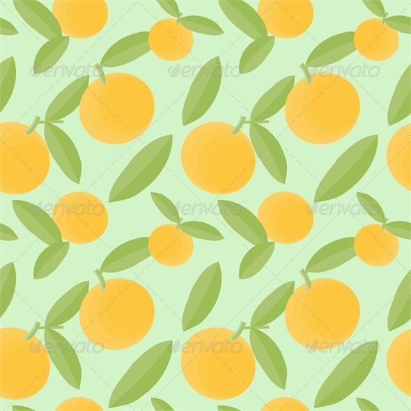 Oranges Pattern - Patterns Decorative