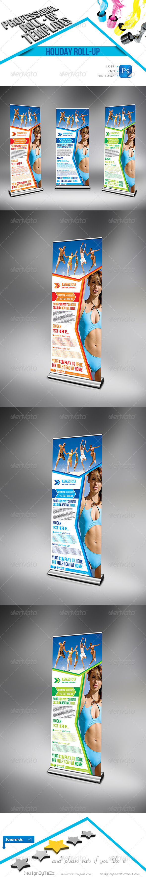 Holiday Business Roll-Up - Signage Print Templates