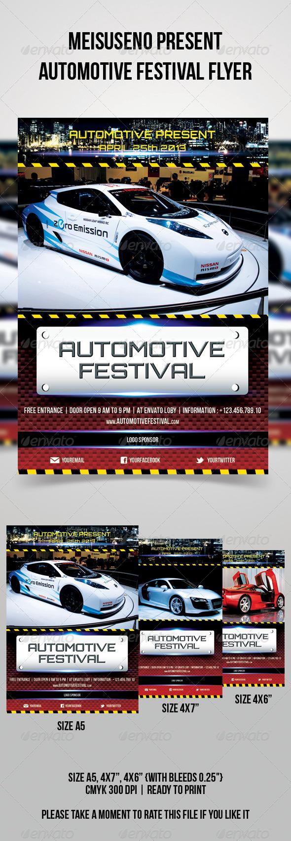Automotive Festival Flyer - Sports Events