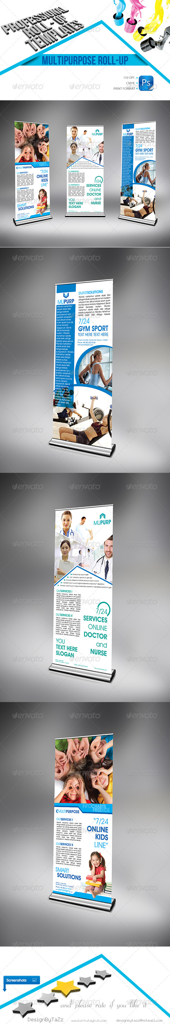 Multipurpose Business Roll up - Signage Print Templates