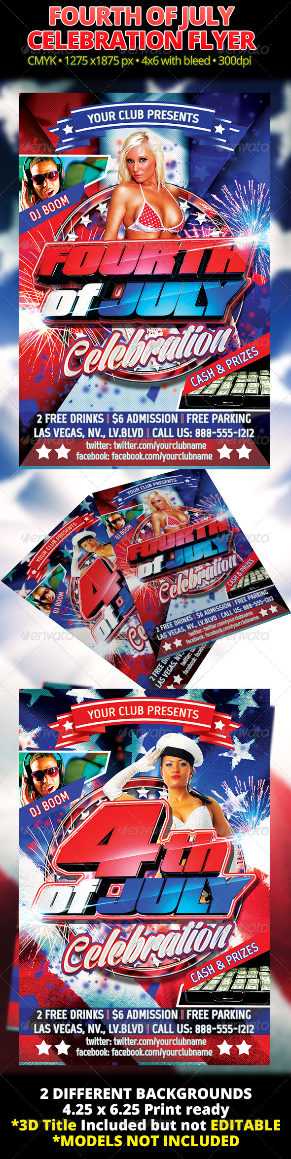 Fourth Of July Celebration Flyer - Holidays Events