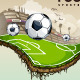 Vector illustration of surreal soccer field - GraphicRiver Item for Sale
