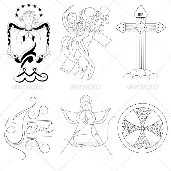 Jesus Religious Vector Designs Pack - Religion Conceptual
