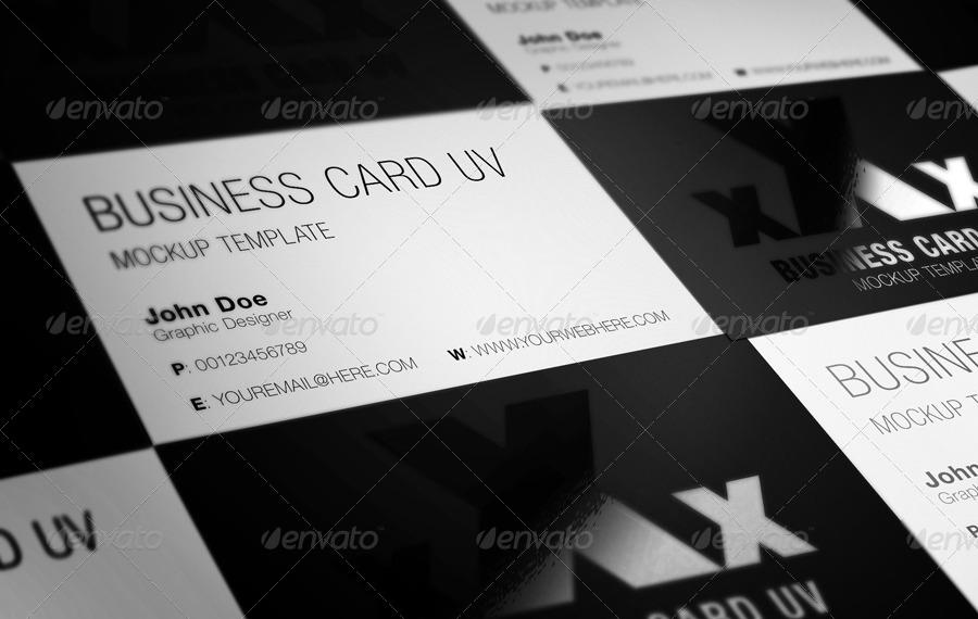Business card uv mockup by bluemonkeylab graphicriver business card uv mockup reheart Images